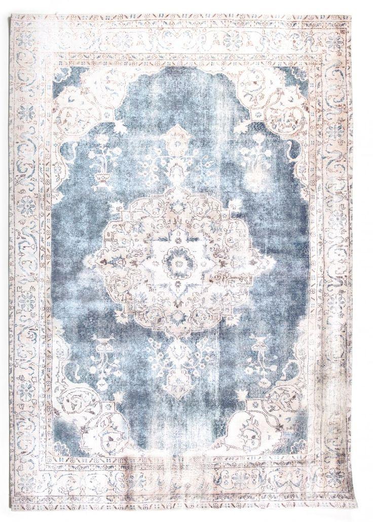 Vloerkleed Florence - 200 x 290 cm - Beige/Blauw - By-Boo