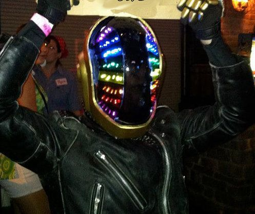 This set of LED light panels is complete and ready to install into your homemade Guy Manual de Homem-Christo Daft Punk helmet. No soldering required and no additional pieces to buy. Visit daftpunkhelmetlights.com to purchase