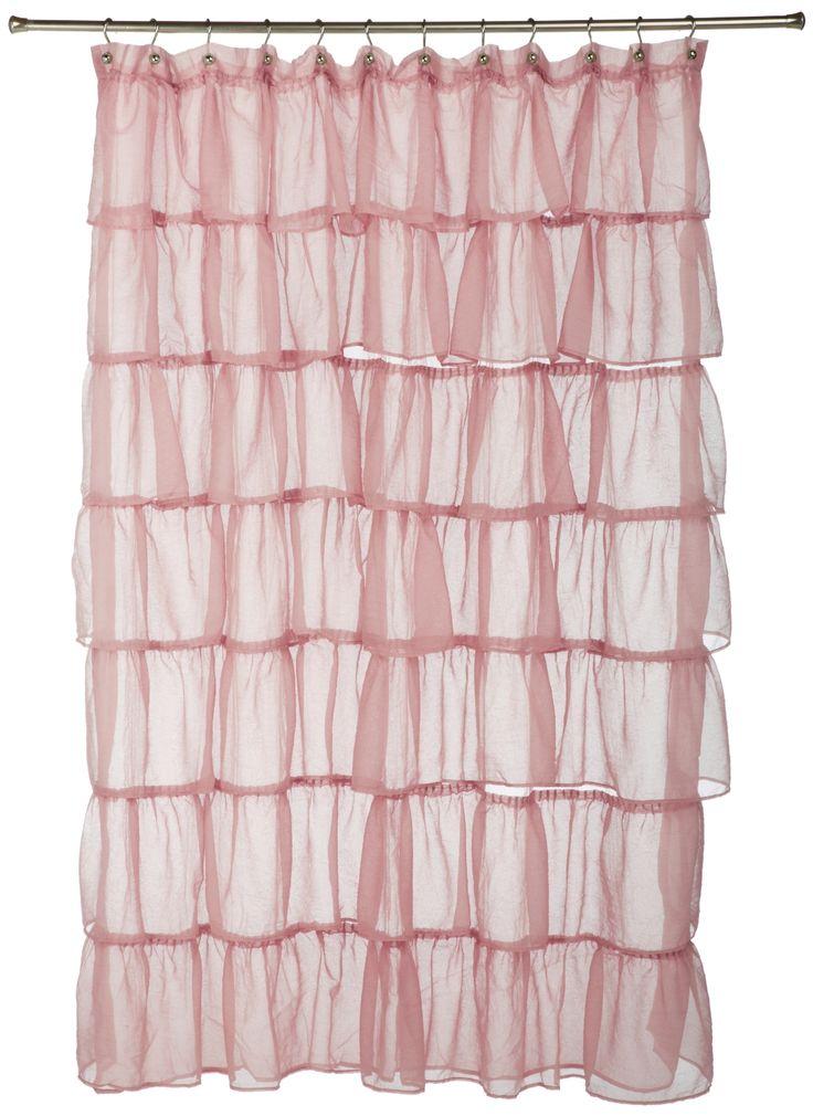 Lorraine Home Fashions Gypsy Shower Curtain 70 Inch By 72 Inch Pink Ruffle