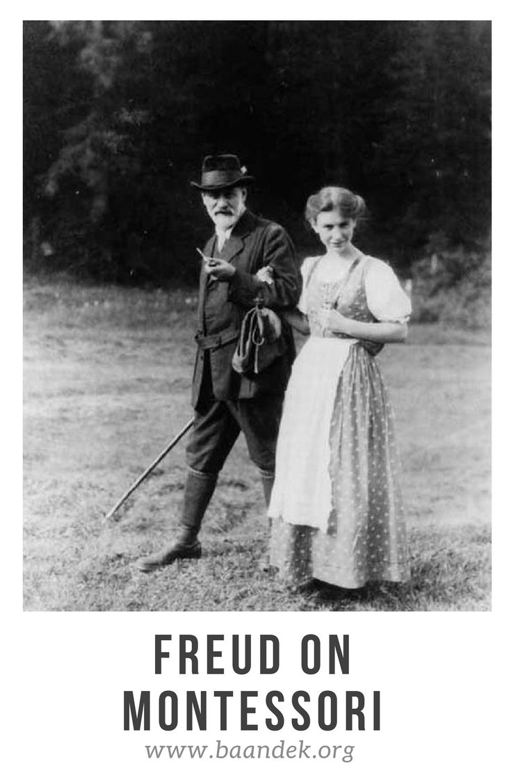 Anna Freud was a strong supporter of Maria Montessori, and the Montessori approach to education. Her father also corresponded with Montessori, and professed his respect.