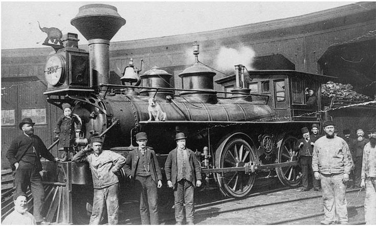 old steam engines | CNR predecessor roads added an interesting old photo of GTR 287 with ...
