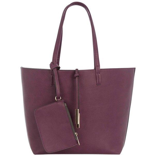 Oasis Primrose Reversible Shopper Bag, Multi ($43) ❤ liked on Polyvore featuring bags, handbags, tote bags, purse tote, purple handbags, purple tote, reversible tote bag and metallic tote