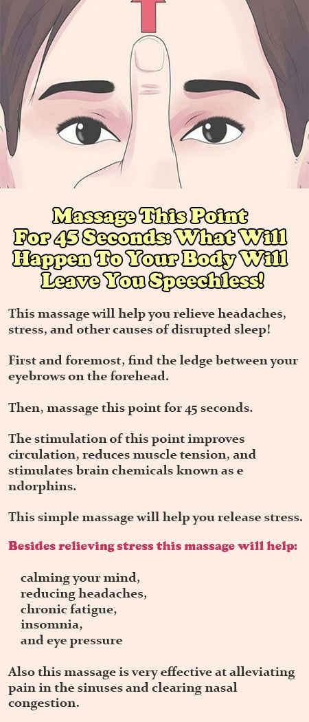 Massage This Point For 45 Seconds: What Will Happen To Your Body Will Leave You Speechless!