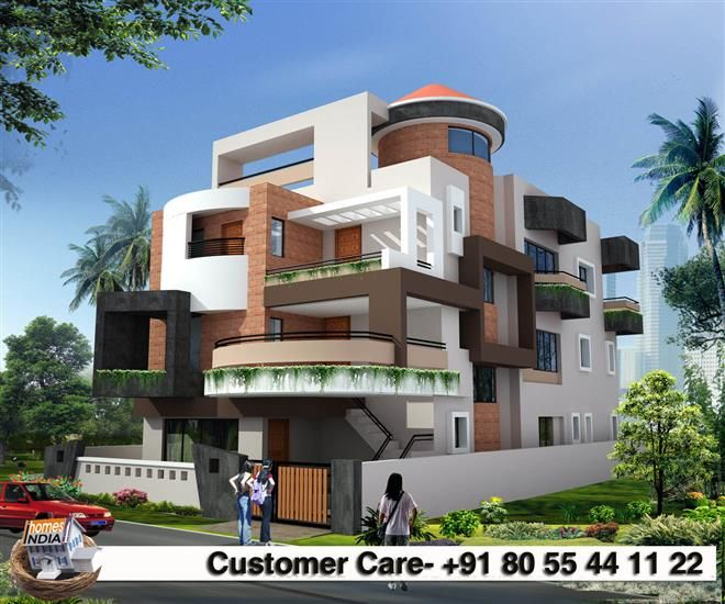Indian residential building designs sample plans contact for Building outside design