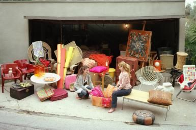 14 Yard Sale Display Ideas and Tips: Place large, desirable pieces such as furniture closest to the street.