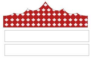 Canada Day Printable Decorations – Party Hat #2 - KidsPressMagazine.com