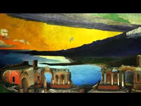 Csontváry A taorminai görög színház romjai