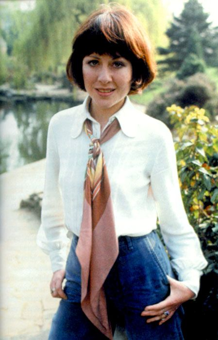 The beautiful Elisabeth Sladen (1946– 2011) as Sarah Jane Smith, companion to the third and fourth Doctors. She is undoubtedly the most beloved companion in the entire 50 year history of Doctor Who.
