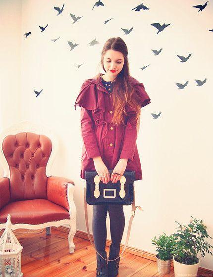 Chicwish giveaway on my blog! (by Diana  DeMarino) http://lookbook.nu/look/3293621-chicwish-giveaway-on-my-blog: Dream Style, Dream Closet, Diana Kozachek, Chicwish Coat, Birds, De Style, Cute Jackets, Diana Demarino
