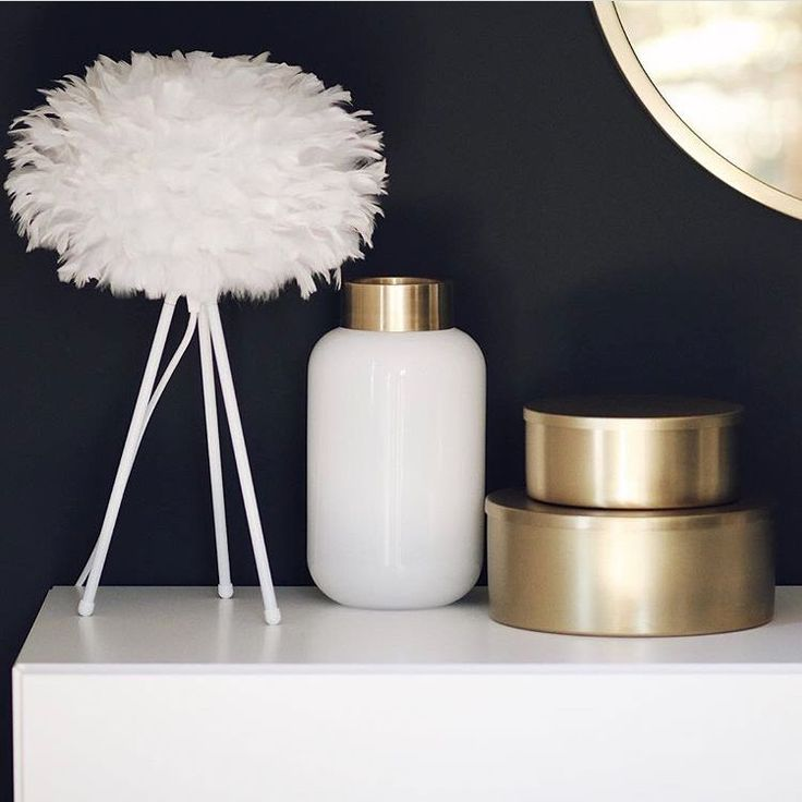 The Eos lampshade and Tripod Table lightstand appear alongside beautiful brass details in this image by @annewunderlich.