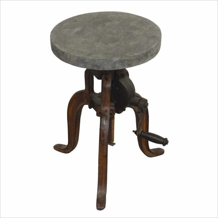 Yosemite Adjustable Bistro Stool in Cement Coating - YFUR-SBA1324201 - Lowest price online on all Yosemite Adjustable Bistro Stool in Cement Coating - YFUR-SBA1324201