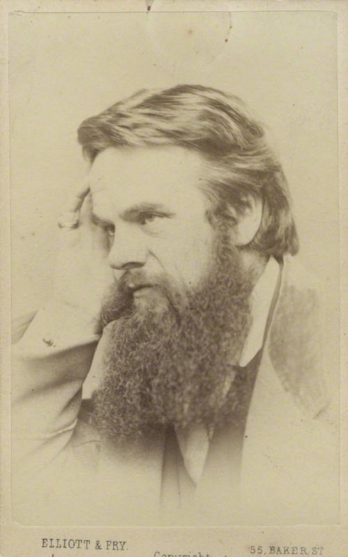 William Holman Hunt, 1865, by Elliott and Fry. Albumen carte-de-visite. National Portrait Gallery. Given by Katharine Ada Esdaile (née McDowall), 1932