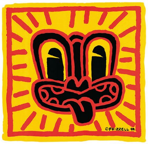 A Haring style Tiki by Dick Frizzell