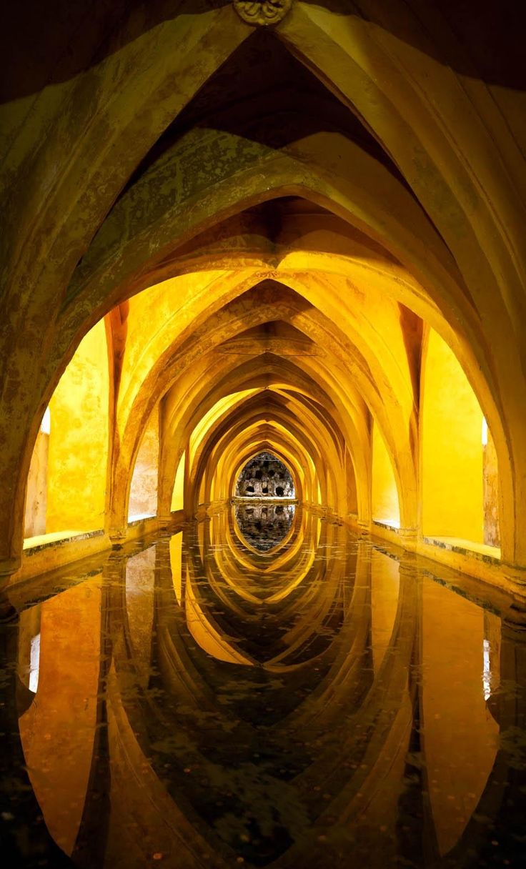 Baths of Dona Maria de Padilla. Royal Alcazar of Seville   Spain Travel Guide