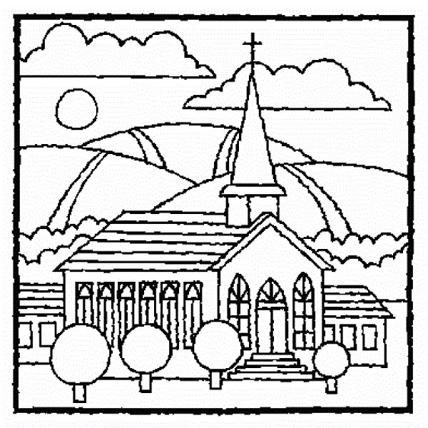 Christmas Coloring Pages Church