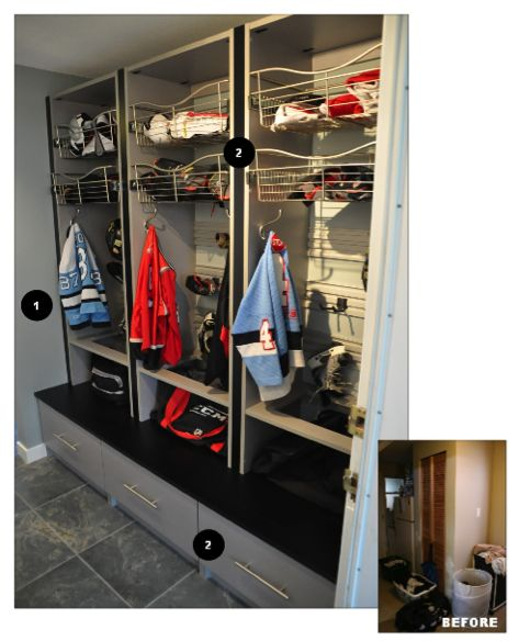 Hockey Storage For Mud Room Mud Room Pinterest