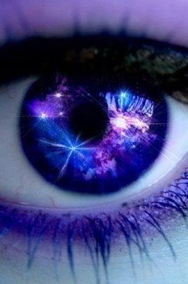 Blue & purple eye