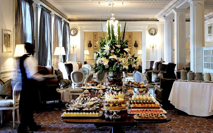 Your afternoon tea is ready to be served.