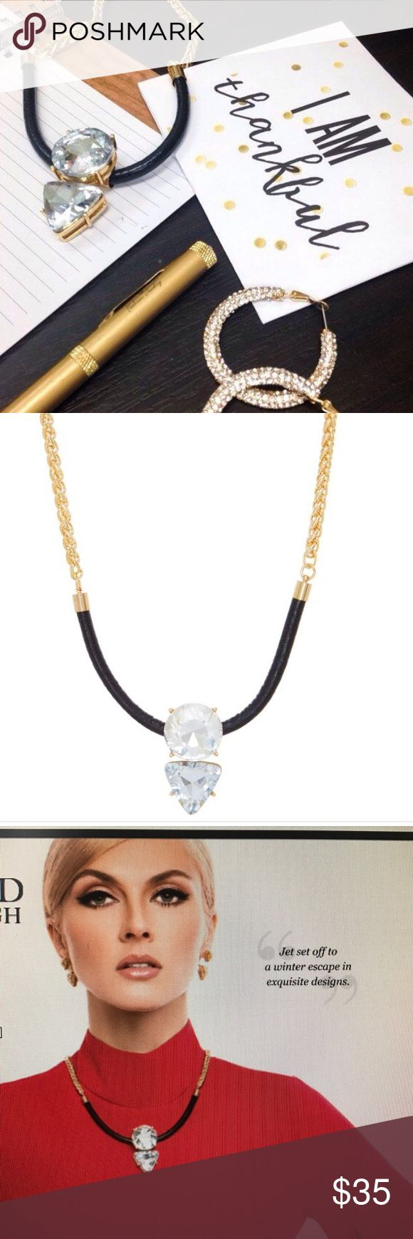 """Traci Lynn Black & Bling Necklace, 16-19"""" Beautiful fashion necklace! Comes in a gorgeous gift box! Traci Lynn Jewelry Necklaces"""