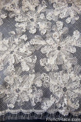 Angel 125cm A Ecru, $536.00. Exquisite lace with an applique.