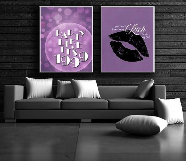 1999 By Prince Song Lyric Art Custom Designed Poster