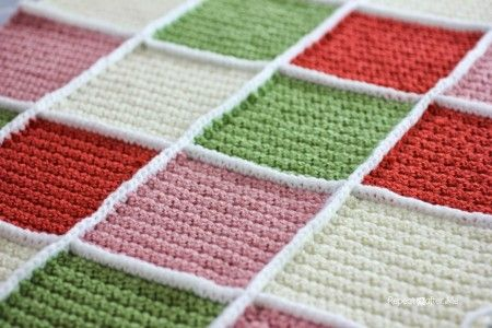 12 Great Methods for Joining #Crochet Afghan Square and Blocks! SINGLE CROCHET JOIN