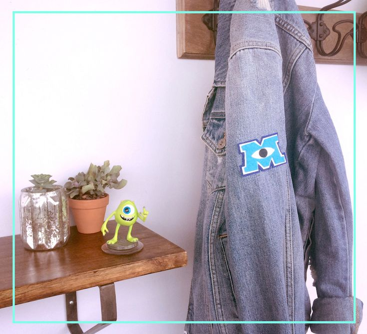 DIY: Monsters University Letterman Pin | [ https://style.disney.com/living/2016/04/10/diy-monsters-university-letterman-patch/ ]