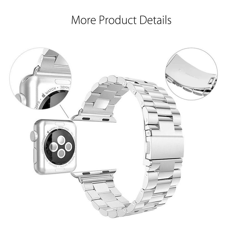 38mm Stainless Steel Watch Band Bracelet Strip for Apple Watch iWatch Series
