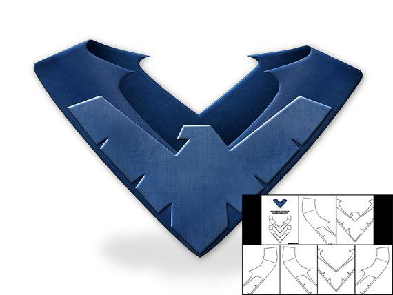 Template for Nightwing Shoulder Armor by TheFoamCave on Etsy