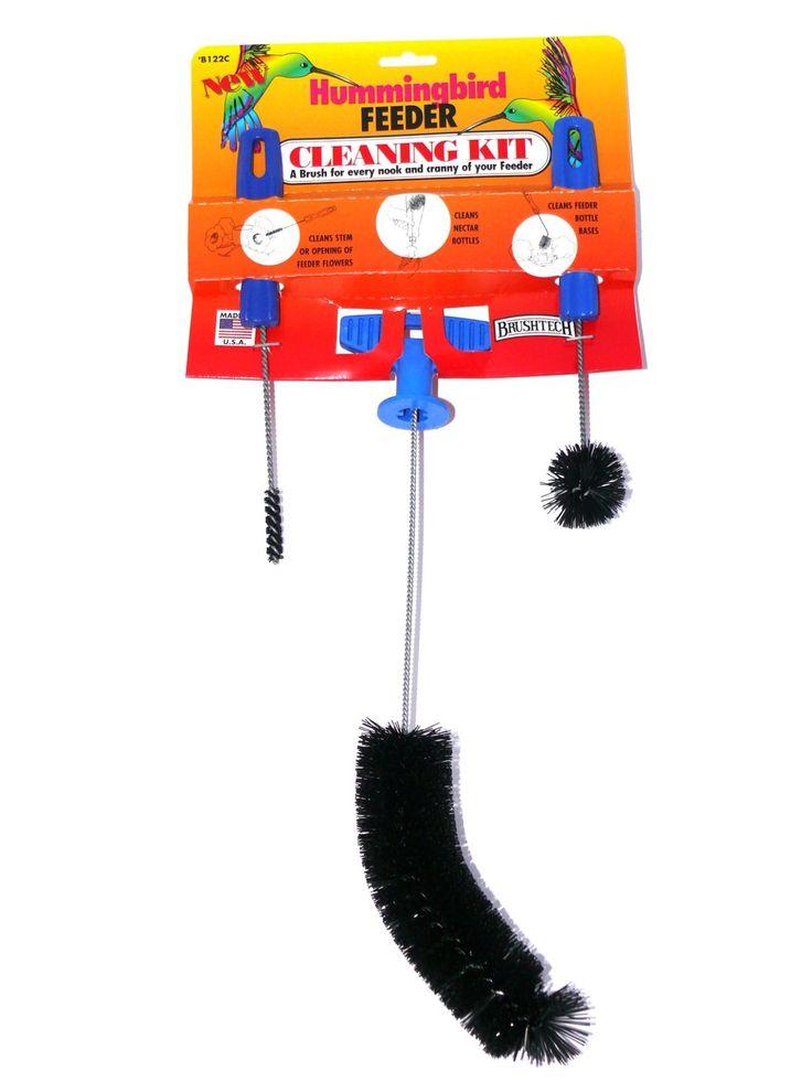 Brushtech b122c hummingbird feeder cleaning