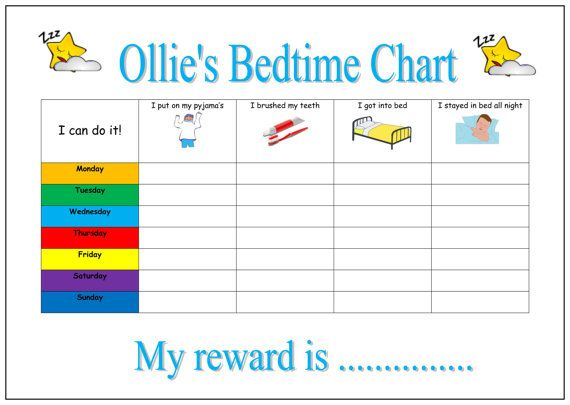 14 best Robinu0027s bedtime routine images on Pinterest Rewards - blank reward chart template