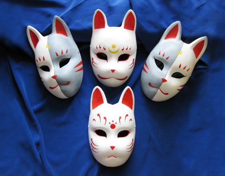 Fox masks by ~Mishutka on deviantART