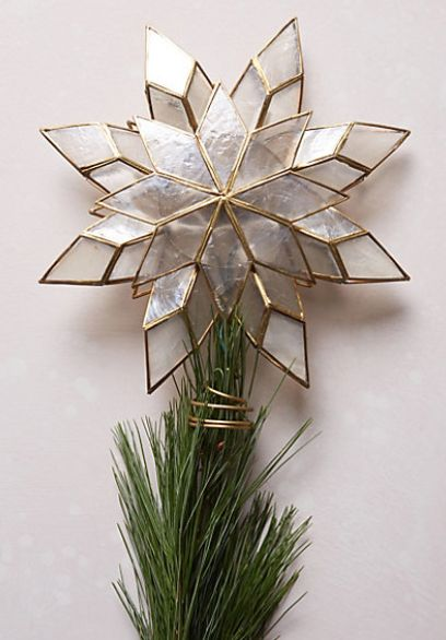 capiz star tree topper anthrofave httprstylemens8bmwpdpe your anthropologie favorites pinterest star tree topper tree toppers and holidays