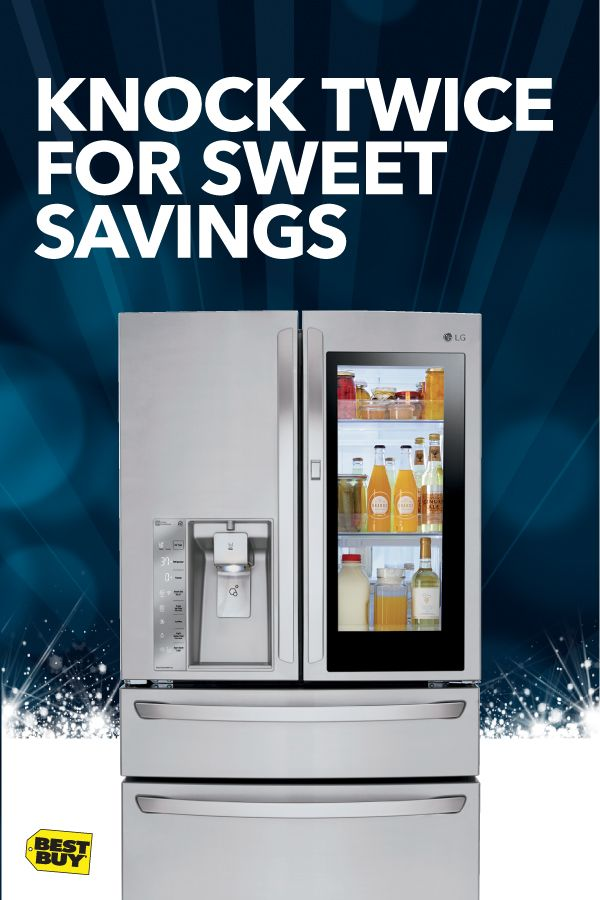 Black Friday appliance deals are here, getting you up to 40% off Appliance Top Deals. Plan your grocery needs in a knock. Two in fact. With the LG Instaview Door-in-Door Refrigerator, you can peek at what's stocked inside without opening the door and see what's needed for tonight's festivities. The savings have started and they're oh-so fresh. Offer valid 11/1/17 –11/29/17. Minimum savings is 5%. Includes clearance and open-box.