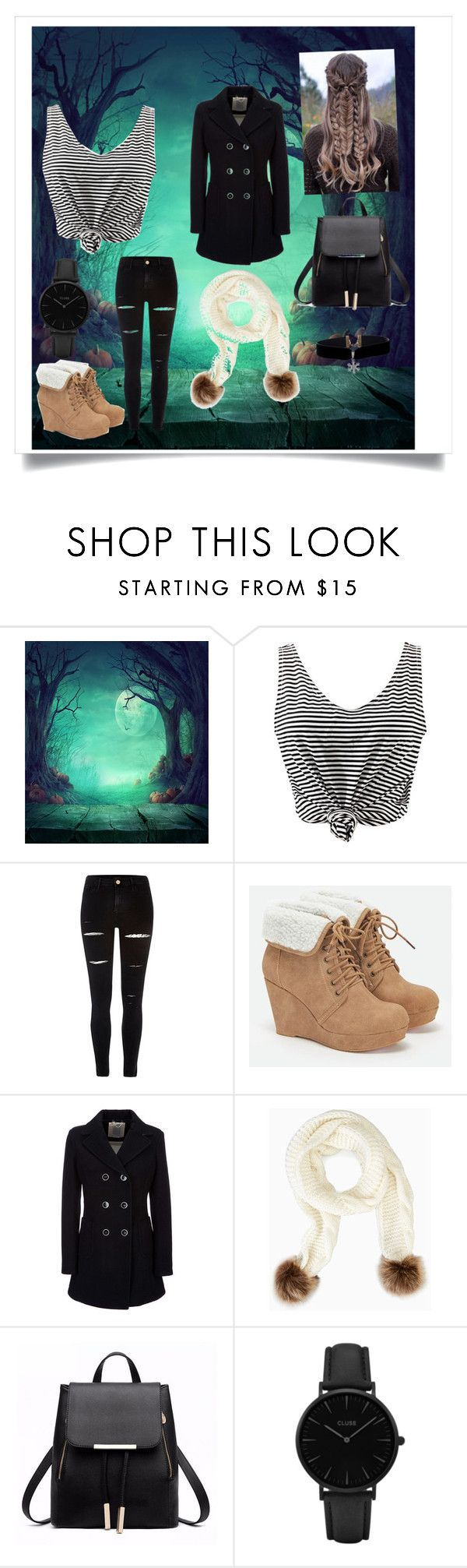 """Chilly Weather"" by alexis-kitten on Polyvore featuring WithChic, River Island, JustFab, Geox, Shibuya and CLUSE"