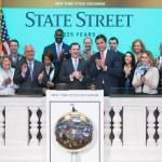 Photo of State Street Chairman and CEO Jay Hooley Ringing New York Stock Exchange Closing Bell Available on Business Wire's Website and the…