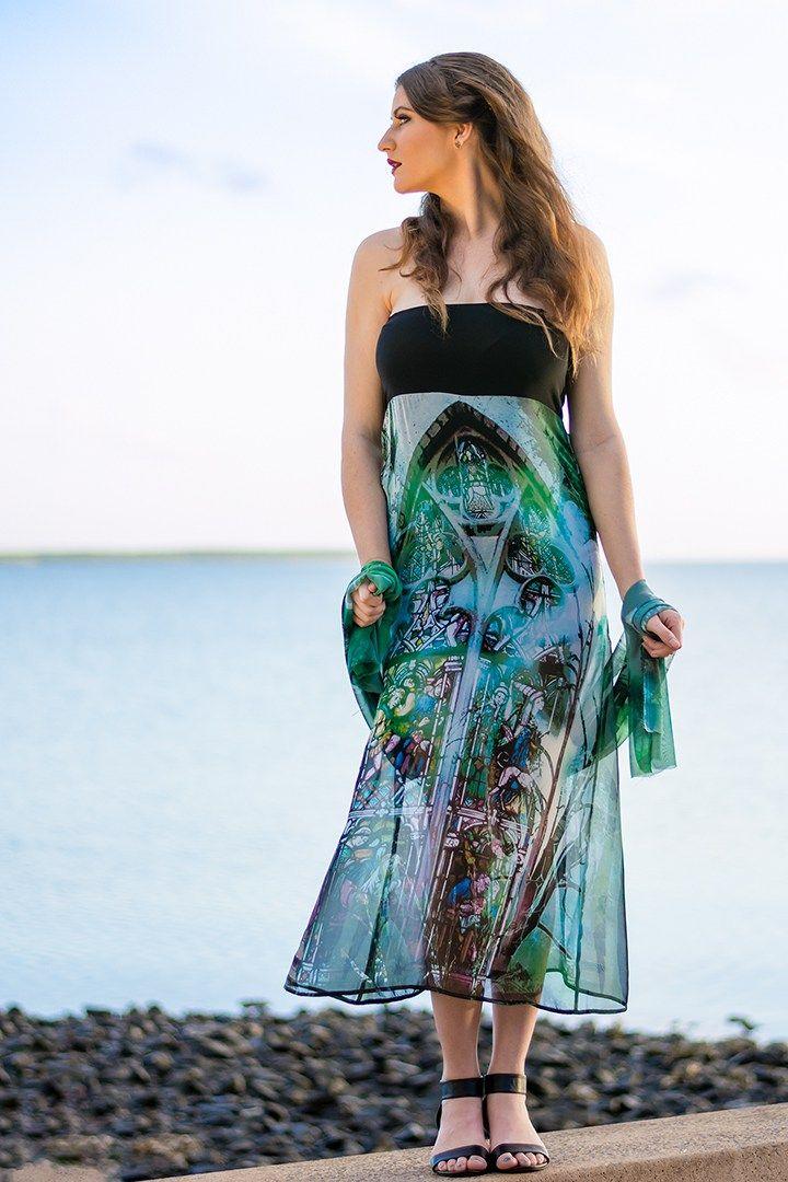 Whitsunday Dress in Sacred Green