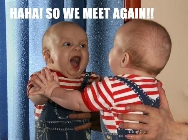 Hilarious: Make Me Laughing, Evil Twin, Funny Pictures, So Cute, Baby Memes, Make New Friends, Baby Faces, So Funny, Funny Baby