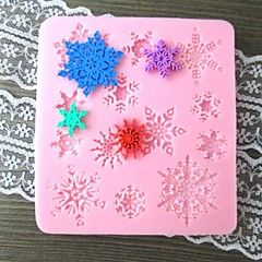 floco de neve em forma de bolos molde fandant, l9.5cm * w8.8cm * h1cm sm-268