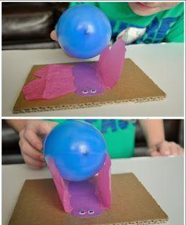 Actividades para Educación Infantil: EXPERIMENTO: El globo cariñoso