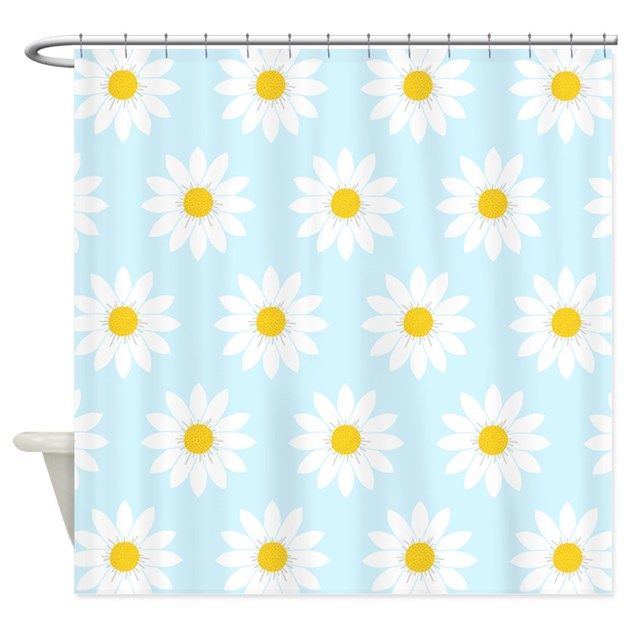 Daisies Shower Curtain By Applepip In 2020 Curtains Shower Rod