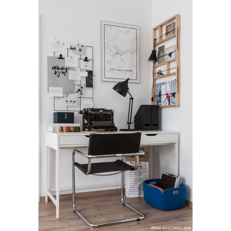 Work place. Mapiful poster, Ikea Ypperlig shelf, Muuto organiser, Zuiver Reader lamp, Mart Stam S34 Bauhaus chair.