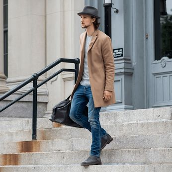 #Look da copiare: oggi scegliamo l'outfit proposto dal fashion blogger tedesco One Dapper Street con cappotto cammello, jeans slim fit, cappello in lana e stivaletti beatles in pelle. Get inspired by One Dapper Street's winter look: camel coat, slim fit jeans, wool hat and leather beatles boots.