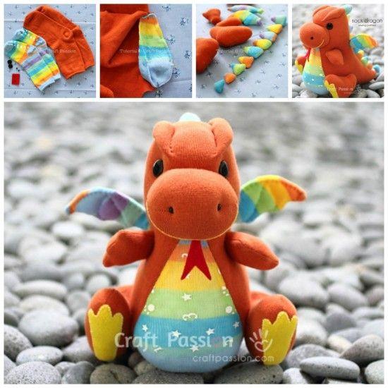 Baby Sock Dragon Free Tutorial