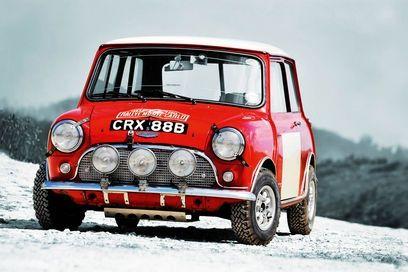 Mini Cooper Rally car Monte Carlo