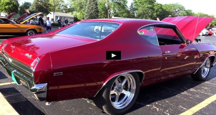 Killer body work, custom interior and monstrous 540 Crate motor pushing over 700hp this 1969 Chevy Chevelle SS is on steroids. See the video!