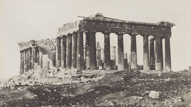 Eugene Piot - The Parthenon from the Acropolis, Athens, 1848