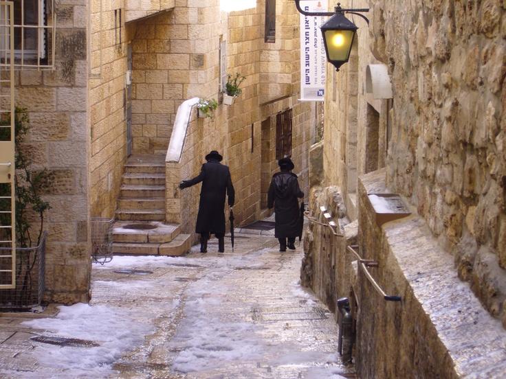 Snowy Jerusalem...