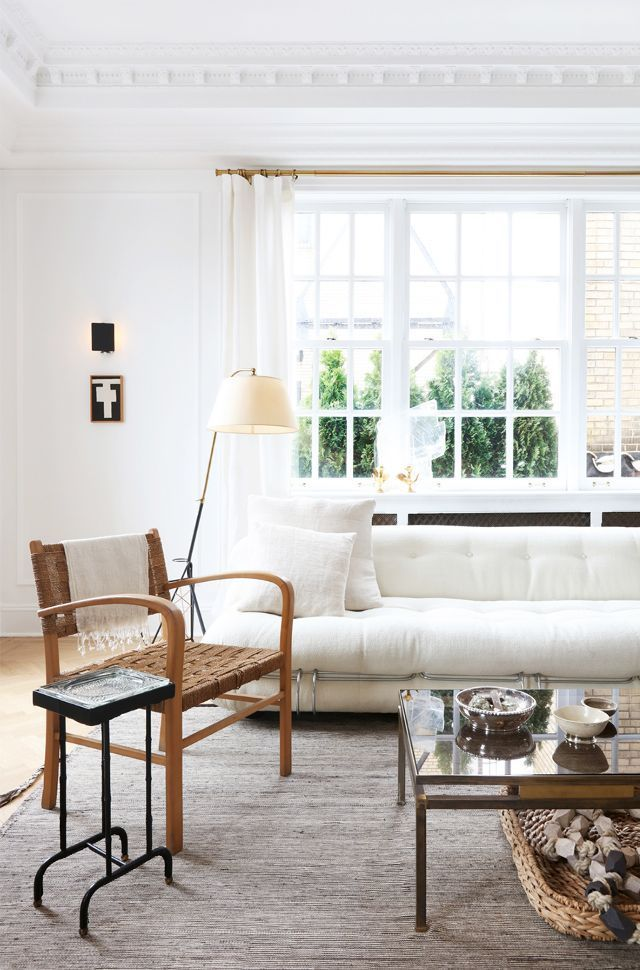 MD: When choosing furniture for an entire room, what should you pay attention to to ensure that every piece will work together?  NB: It's all about scale. If you have a high-backed sofa, low chairs...