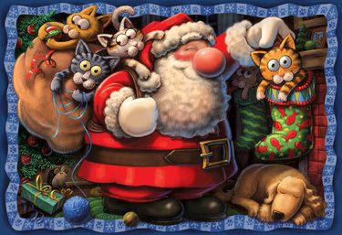 The Purr-fect Gift Kid's Jigsaw Puzzle | Dogs & Cats | Vermont Christmas Co. VT Holiday Gift Shop